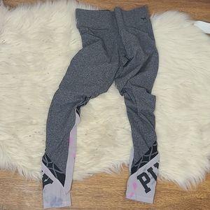 Pink Victoria's Secret yoga leggings small